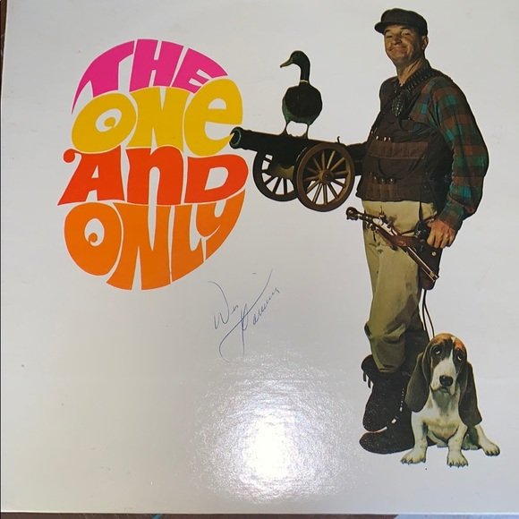 Signed vinyl by Wes Harrison